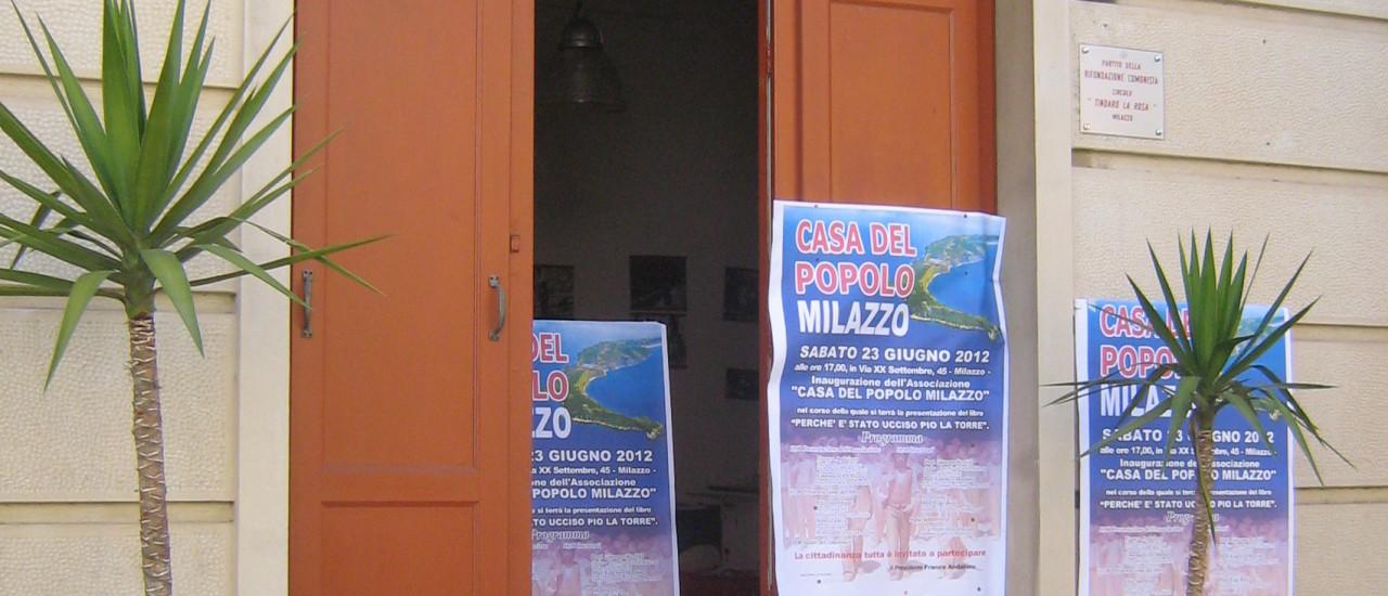"""Inaugurazione dell'Associazione """"Casa Del Popolo Milazzo"""""""